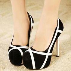 Mixed Colors Stilettos High Heel Sh..