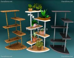 My Sims 3 Blog: Flower Stands & Sills by Dara