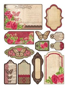 Vintage Labels, Tags and Journal Cards