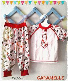 Caramelle : Pequeños divertidos! pijamas niños, moda kids. Boys Pajamas, Kids And Parenting, Baby Dress, Ravelry, Pajama Pants, Dresses, Image, Fashion, Toddler Pajamas