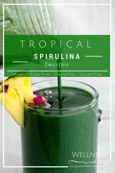 I really like smoothies! They're so fast, simple and I really like the truth that you possibly can add no matter you wish to create a scrumptious meal/snack! This tropical spirulina smoothie recipe is Green Detox Smoothie, Healthy Green Smoothies, Apple Smoothies, Green Smoothie Recipes, Chocolate Smoothies, Smoothie Diet, Yummy Smoothies, Vegetable Smoothies, Healthy Juices
