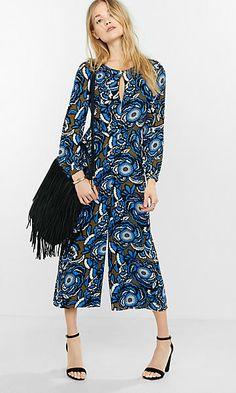 pop floral culottes jumpsuit