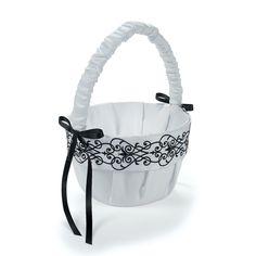 Black & White Wedding Basket - OrientalTrading.com #OrientalTrading.com #ChristmasWishList