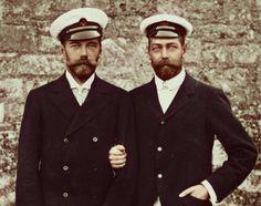 Tsar Nicholas II  and his cousin King George V
