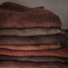 The highest quality Linen - Cotton - Wool textiles by LinenWorld Wabi Sabi, Brown Aesthetic, Colour Board, Earth Tones, Home Deco, Linen Fabric, Color Inspiration, Terracotta, Earthy