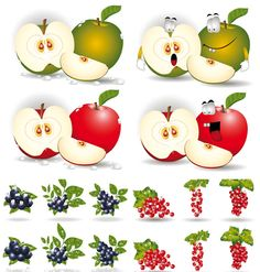 Funny fruits vector