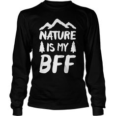 NATURE IS MY BFF WHITE RACERBACK TANK