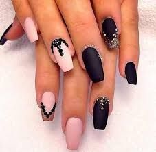 Get ready for some manicure magic as we bring you the hottest nail designs. Black Acrylic Nails, Matte Nails, Pink Nails, Matte Pink, Matte Black, Black Gold, Glam Nails, Fabulous Nails, Gorgeous Nails