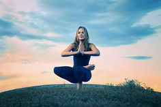 beautiful yoga, sitting tree pose, balance