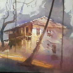 "#artist Ganesh Hire - Rapid colour sketch, 10""×10"" #art #freelancetalents #india"