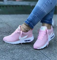 low priced 4ab3f da0ce  Her  Sneakers Brilliant High Heels Shoes Pink Nike Air Max, Pink Nike Shoes