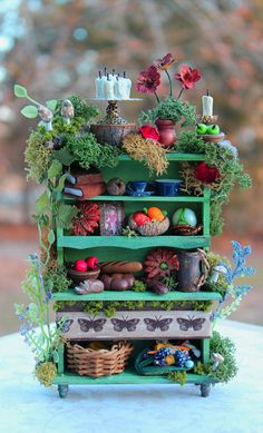 Reserved, please dont buy-Dollhouse Miniature Fairy Essentials Cabinet Layway Available.