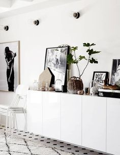 black and white styling | industrial bulb lighting