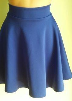 Kup mój przedmiot na #vintedpl http://www.vinted.pl/damska-odziez/spodnice/14563811-spodnica-rozkloszowana-z-kola-niebieska-m-l