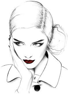 fashion illustrations by kornelia dębosz: Photo