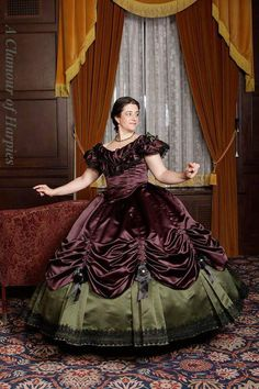 """Beautiful gown by Brittney N. A. Truly Victorian TV240 - 1860's Ballgown Skirt and Truly Victorian TV442 - 1860's Ballgown """"Bodice Both of these were so much easier than I expected. Good for intermediate sewers... The duchess satin looks beautiful..."""""""