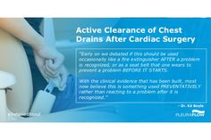 Active Clearance of Chest Drains After Cardiac Surgery