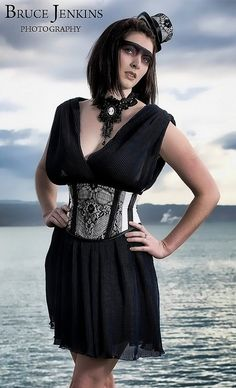 Waspie Corset, collar and hat by Forge Fashion
