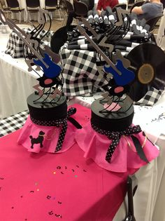 Bottom of centerpiece idea if not too expensive & 1950u0027s Sock Hop Party Decorations | Pinterest | Sock hop party DIY ...
