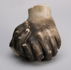 Hands Across the Flames; Marble Statue Fragment (ichi-64487) | The Great Chicago Fire & The Web of Memory