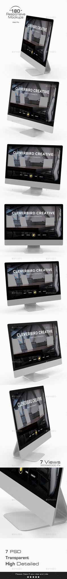 180 Responsive 3D Mockup Design Imac Pro Monitors Display Template PSD. Download here: http://graphicriver.net/item/180-responsive-3d-mockup-imac-pro/16874209?ref=yinkira