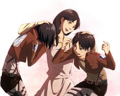 Anime Attack On Titan Carla Yeager Mikasa Ackerman Eren Yeager Shingeki No Kyojin Wallpaper