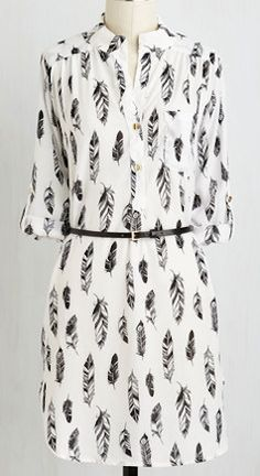 I like simple shirt dresses like this to pair with tights for the office in the winter.