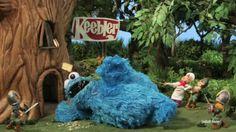 Cookie monster attacks the Keebler elves