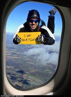 Must seek for a parachute