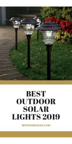 Best Outdoor Solar Lights 2019 Solar lights have come a tremendous way since the old low voltage or Best Outdoor Solar Lights, Outdoor Lighting, Lighting Ideas, Best Solar Garden Lights, Walkway Lights, Pathway Lighting, Landscape Lighting, Outdoor Walkway, Backyard Patio
