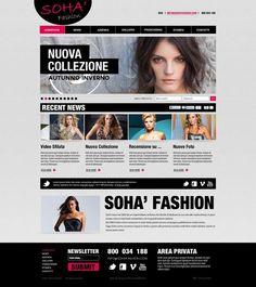 Soha Fashion - Web Design Layout by Federico Laudani, via Behance