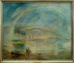 Egry József Múzeum- Badacsony - Műkereskedelem és művészet Rainbow, Community, Landscape, Artist, Painting, Rain Bow, Rainbows, Scenery, Artists