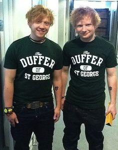 Rupert Grint and Ed Sheeran