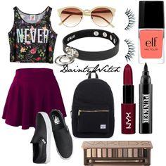 Never Say Die  #polyvore #girly #preppy #prettypastels #pretty #pastel #softgrunge #grunge #tumblr  #edgy #punk #nugoth #gothgoth
