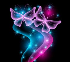free butterfly wallpaper for kindle fire hd | ... , pink, sparkle, glow, butterfly, neon wallpapers (photos, pictures
