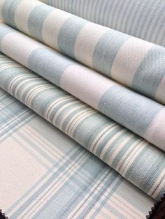 Collection:  Co - Ordinated.  Fabrics: Norfolk stripe mint,  Devon stripe mint, Hove stripe mint, Brighton check mint.
