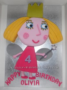 Coolest Princess Holly Cake... This website is the Pinterest of birthday cake ideas