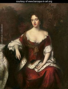 Portrait of Anne, Queen of Great Britain and Ireland (1665-1714), daughter of James II - William Wissing or Wissmig - www.baroque-in-art.org