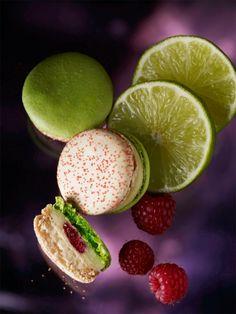 MACARON ENCHANTED GARDEN (Lime, Raspberry & Piment d'Espelette)