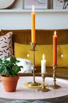 MY ATTIC SHOP / vintage gold candle holders    Photography: Marij Hessel  www.entermyattic.com
