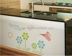 Spring Has Come Flower and Sun Wall Decals Wonderful Flowers, Flower Wall Stickers, Toy Chest, Shabby Chic, Sun, Storage, Spring, Home Decor, Purse Storage