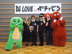 SEKAI NO OWARI DJ LOVE vs ガチャピン  okay that's nice but can we talk about the fact that  rl Gachapoid Fukase are there??