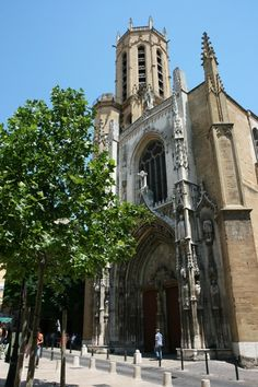 The Cathédrale St-Sauveur (Holy Savior Cathedral) in Aix-en-Provence was built in fits and starts from the 5th century to the 15th century. It is known for its interesting combination of architectural styles and its art masterpiece by Nicolas Fromen, the Burning Bush Triptych.