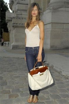 Good Morning Girls, Summer Outfits, Cute Outfits, Bianca Balti, Laid Back Style, Poses, White Tank, Fashion Forward, Fendi
