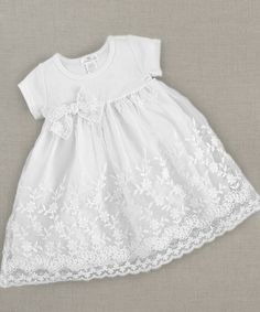 White Flower Lace Dress - Infant & Toddler by Truffles Ruffles #zulily #zulilyfinds
