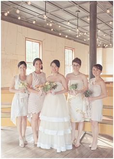 www.weddingrowcalifornia.com | Lydia Chen Fotography | Cream Bridesmaid Dresses