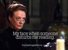 Harry Potter. Professor Minerva Mcgonagall. Reading