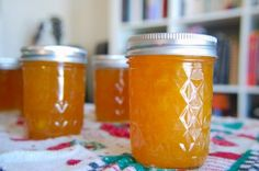 Jars of Finished Peach Jam. This is THE best peach jam I've ever made and tasted. People moan when they try it! Spiced Peach Jam, Spiced Peaches, Canned Peaches, Peach Preserves Recipe, Peach Jam Recipe Without Pectin, Peach Jelly, Jelly Recipes, Peach Jam Recipes, Fruit Recipes