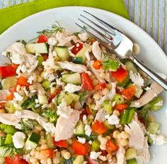 Lemony Pasta Chicken Salad
