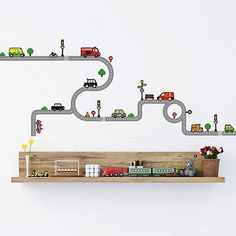 Fancy Decowall DW Transports and Roads Wall Stickers wall decals wall transfers wall tattoos wall stickers Decowall http amazon dp B u